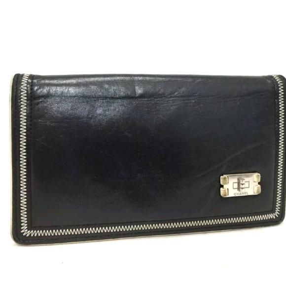 e82d8de0bf58 CHANEL Bags   255 Black Lambskin Long Bifold Wallet   Poshmark